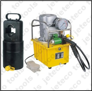 Wire rope crimping machine
